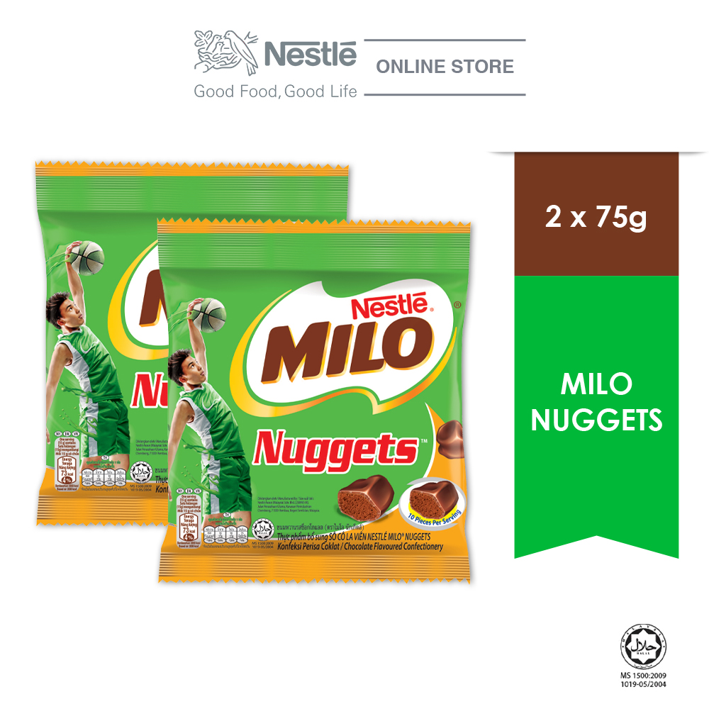 MILO Nuggets 75g, Bundle of 2