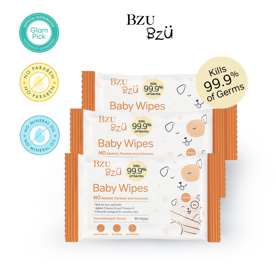 BZU BZU Baby Wipes 30s x 3
