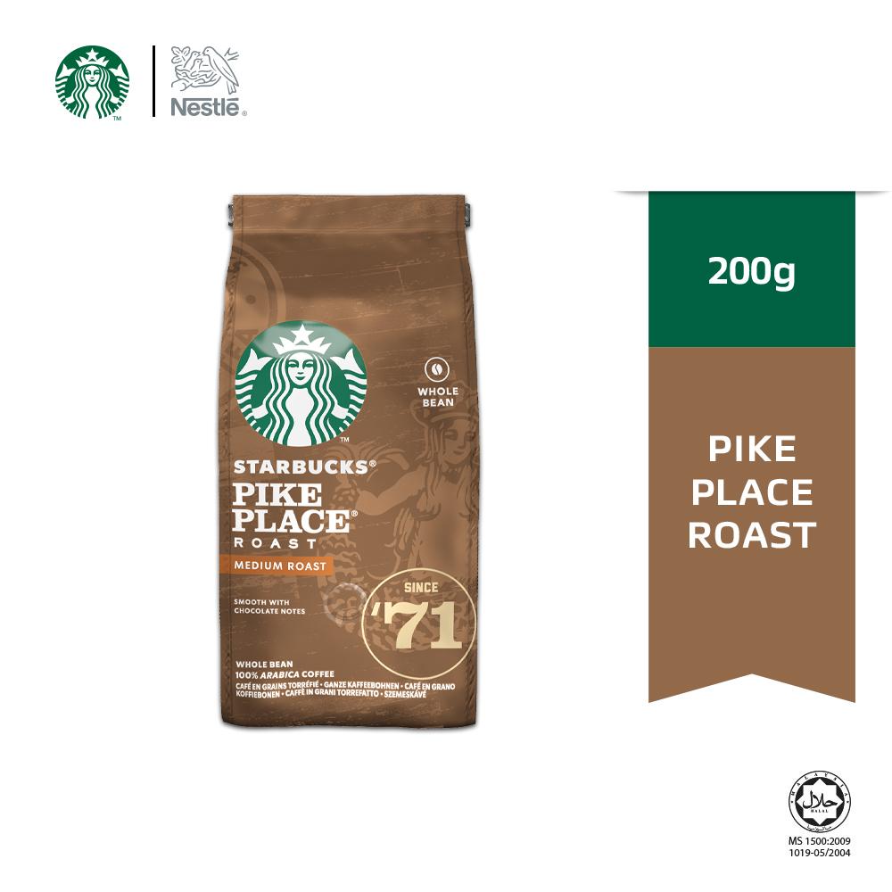Starbucks® Pike Place® Medium Roast Whole Bean Coffee 200g