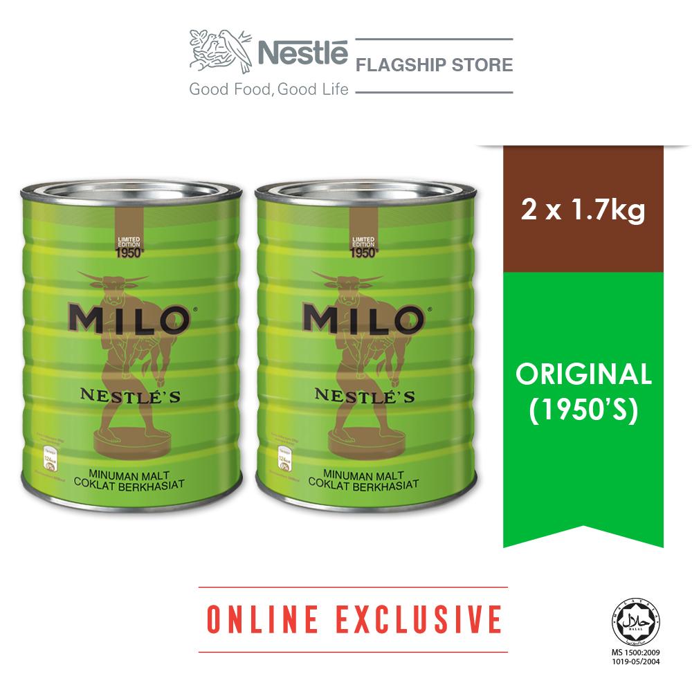 Nestle MILO Activ-go Vintage 1950s 1.7kg Bonus Pack, Bundle of 2