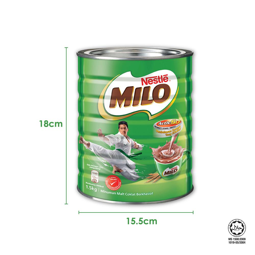 Nestle MILO Activ-go Vintage 1970s 1.7kg Bonus Pack, Bundle of 2