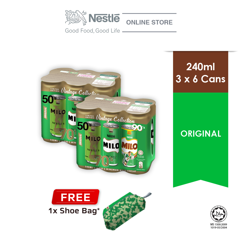 Nestle MILO Vintage Cluster Buy 2 Free MILO Shoe Bag