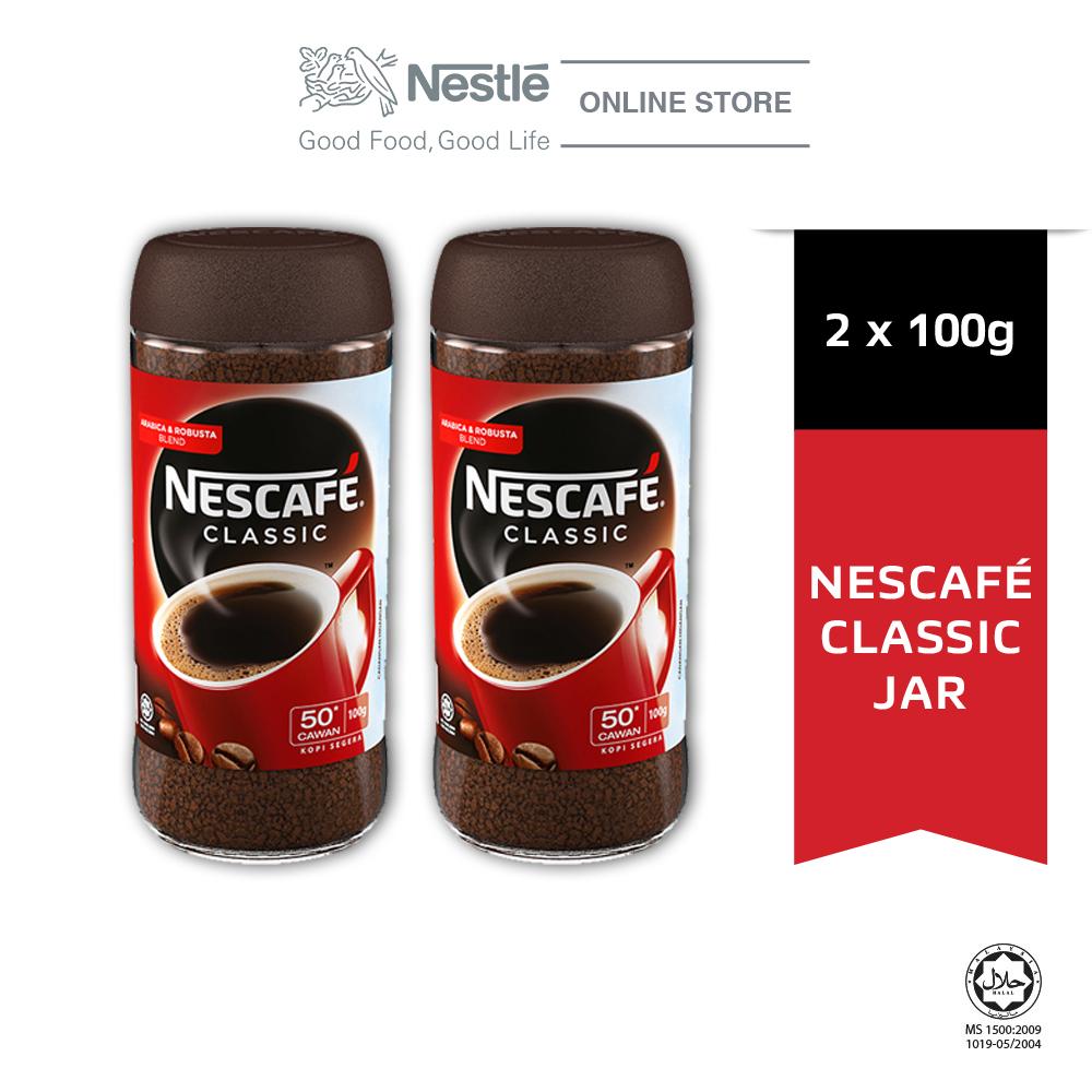 NESCAFÉ CLASSIC Coffee Jar 100g x2 jars