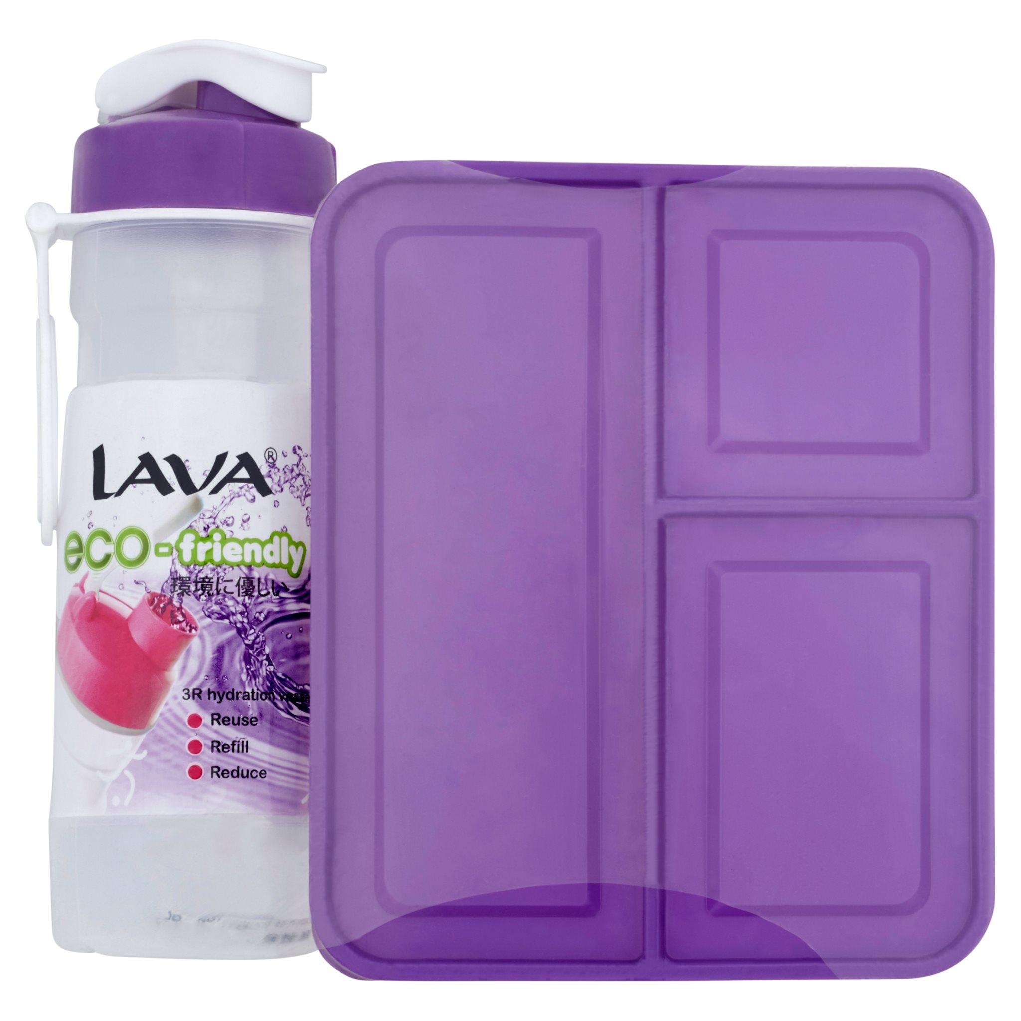 Lava BPA FREE Water Tumbler 500ml + Lunch Box Set 1.6L