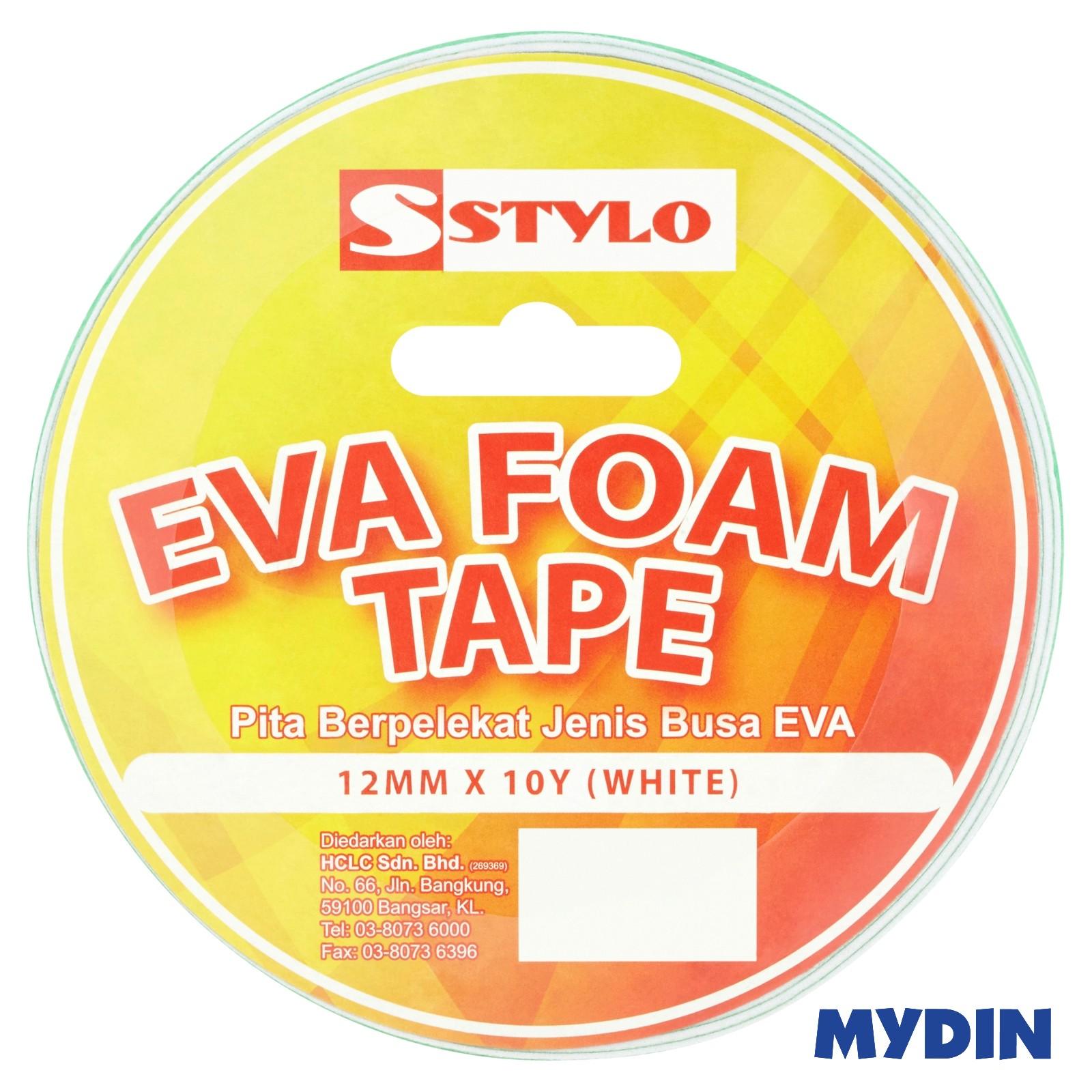 Stylo White Eva Foam Tape (12mm x 10yd)