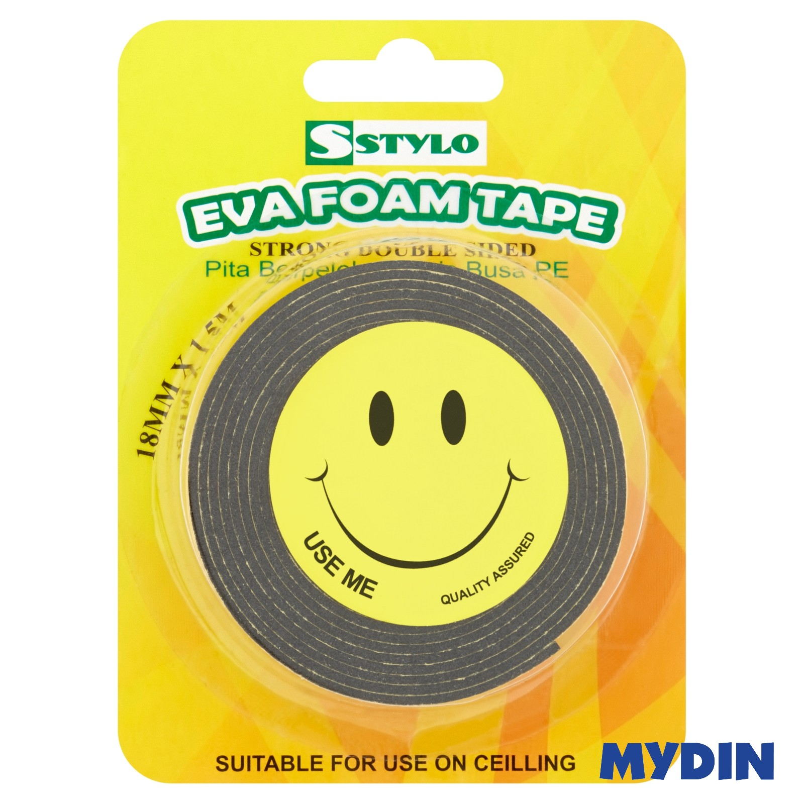 Stylo Eva Foam Tape 18mm x 1.5m