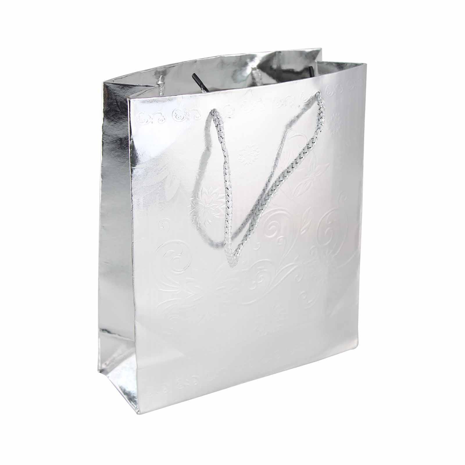 Wedding Paper Bag Silver Size M (10's)
