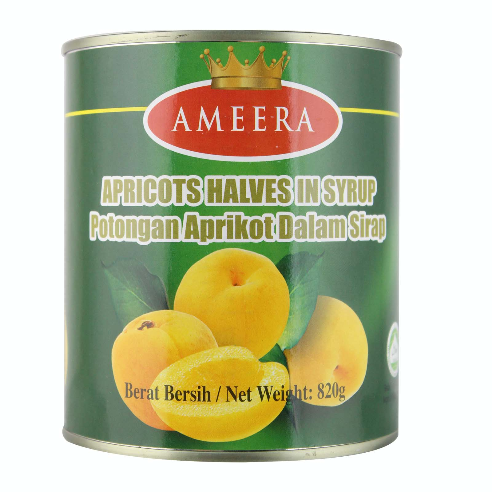 Ameera Apricots Halves In Syrup 820g
