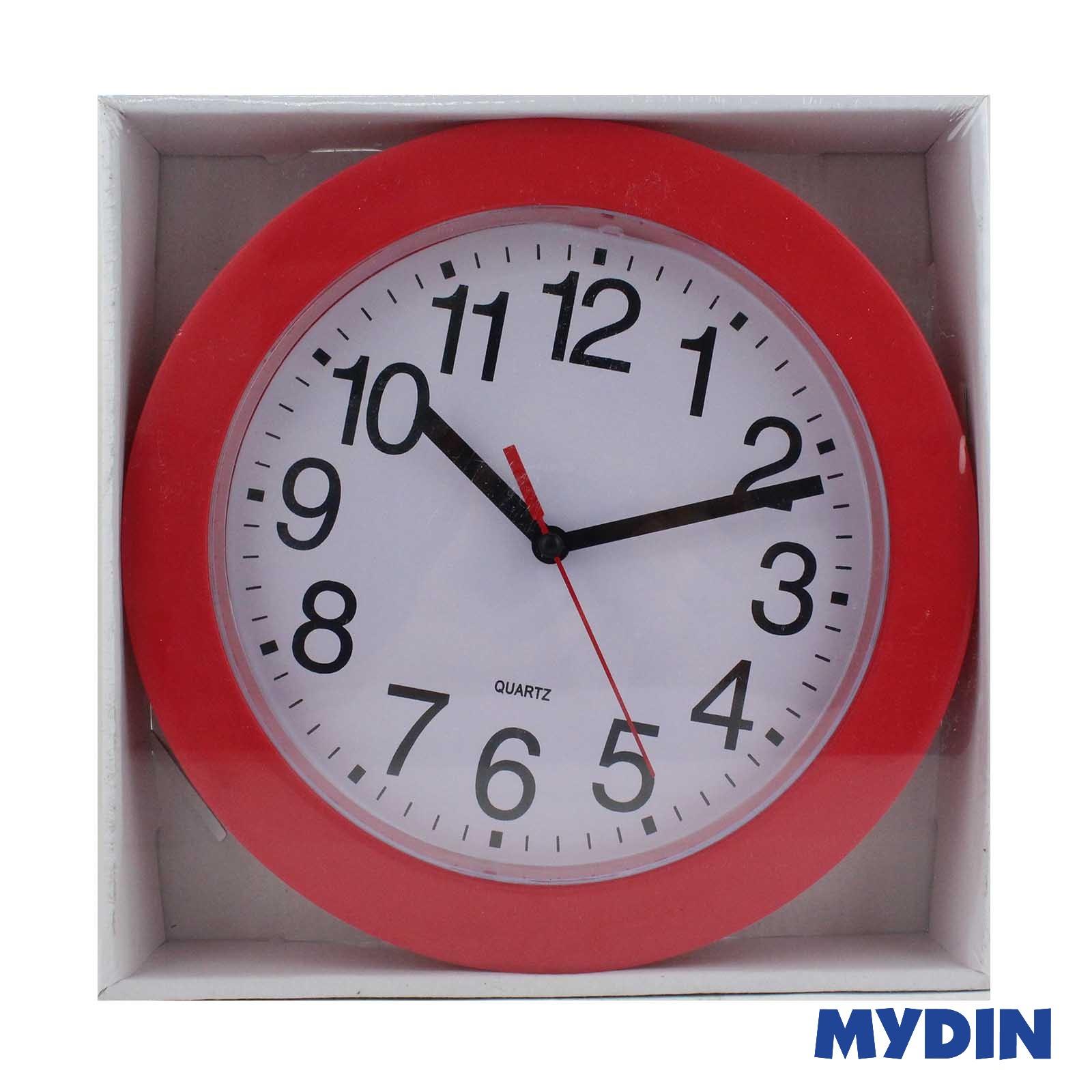 """Wall Clock LJ3774 9"""" Red"""