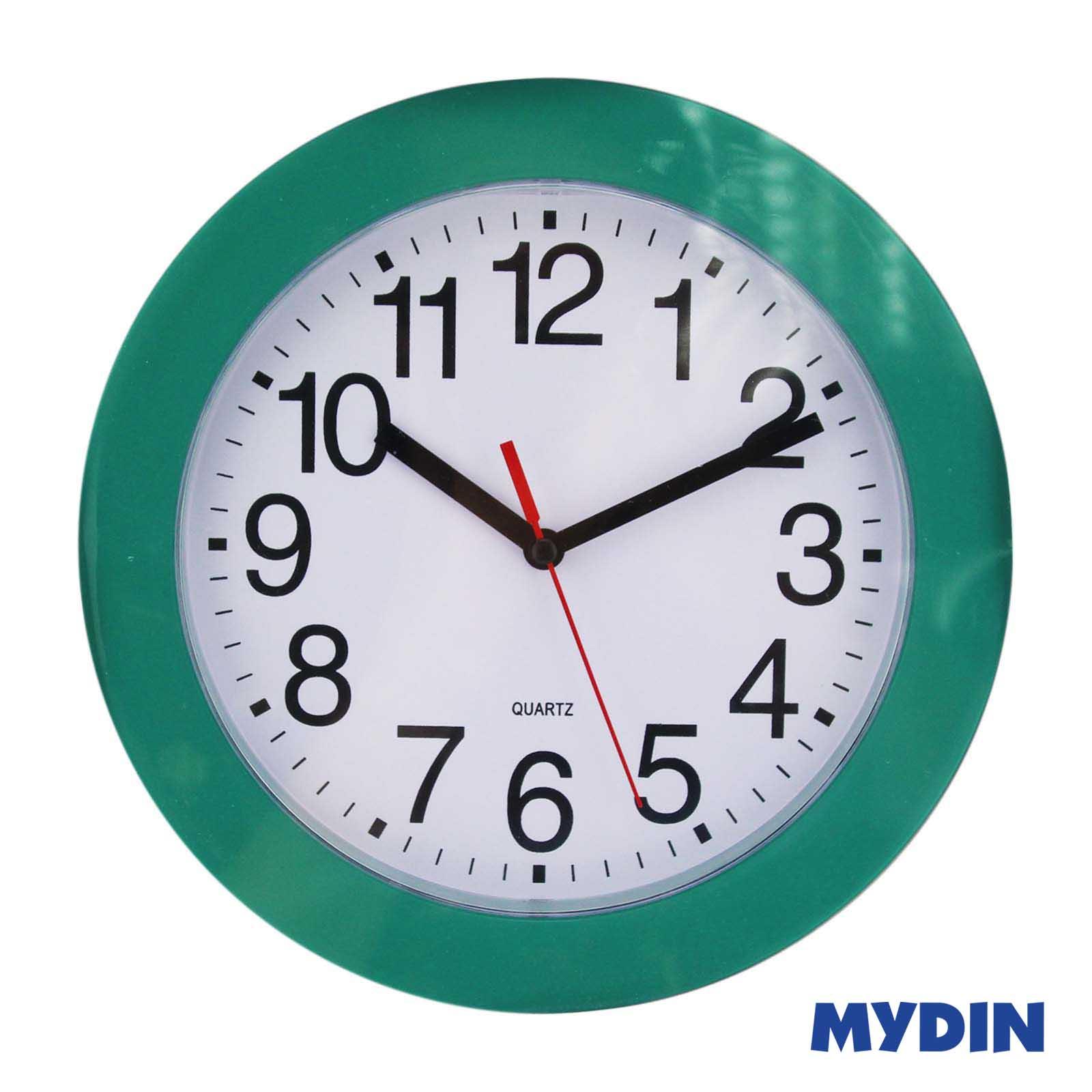 """Wall Clock LJ3774 9"""" Green"""