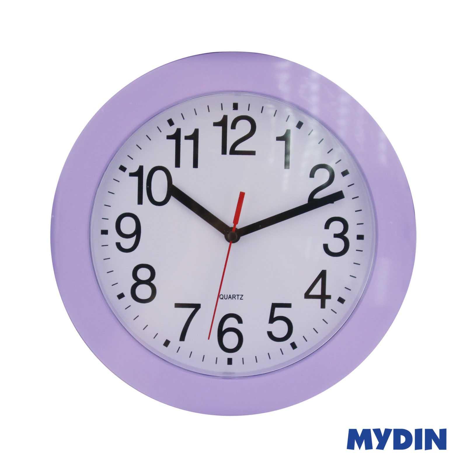 """Wall Clock LJ3774 9"""" Purple"""