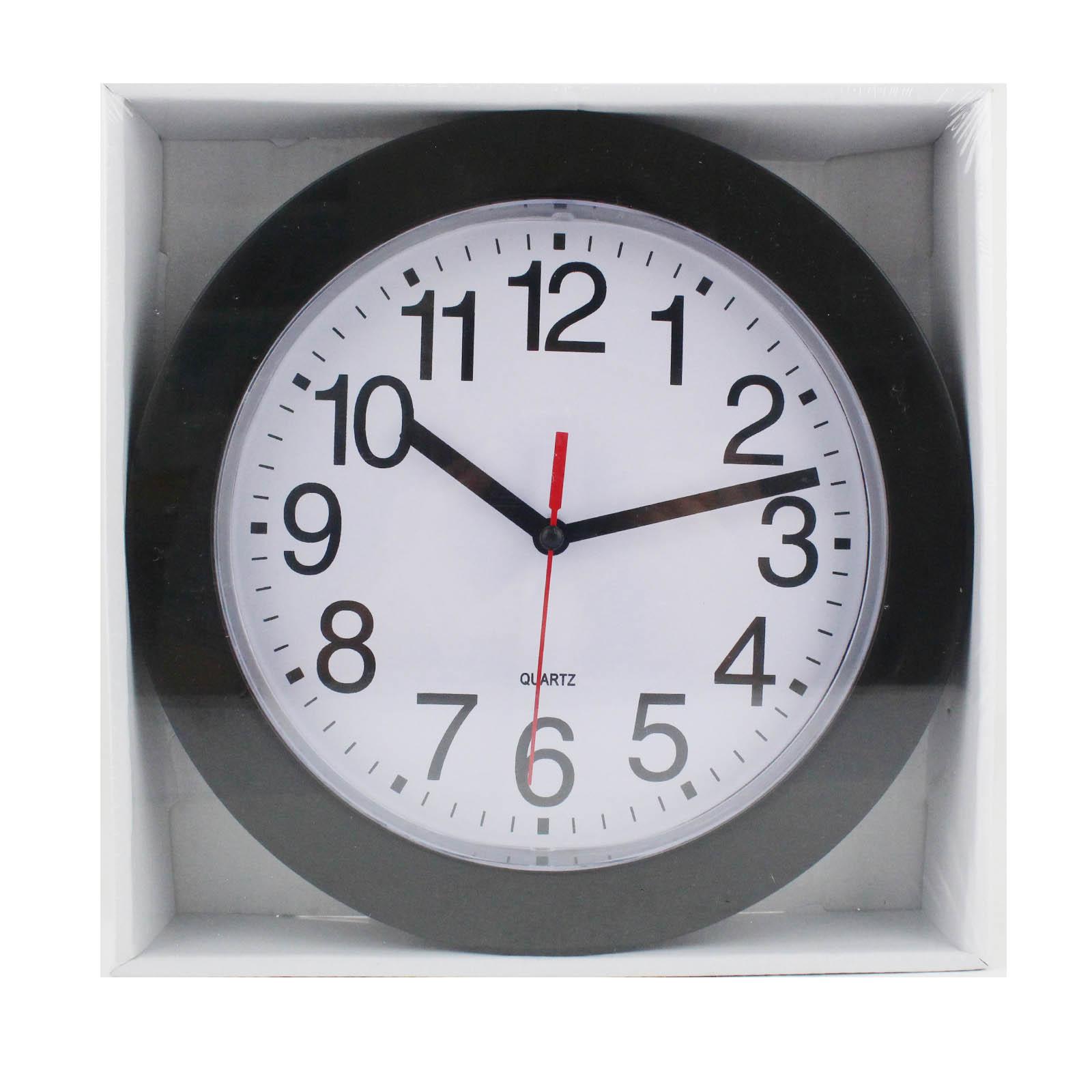"""Wall Clock 9"""" LJ3774 - Black"""