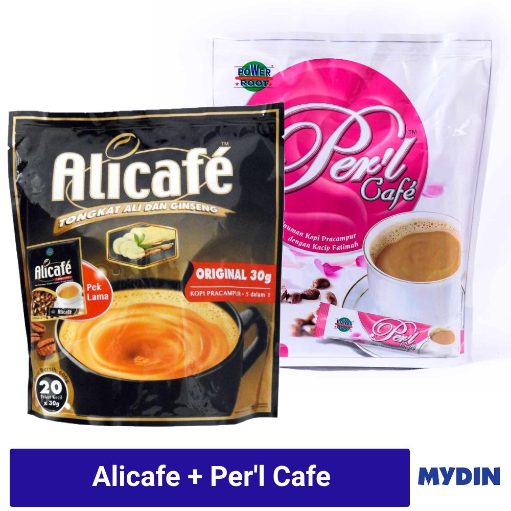 Alicafe Tongkat Ali & Ginseng (20 x 30g) + Per'L Cafe (20 x 20g)