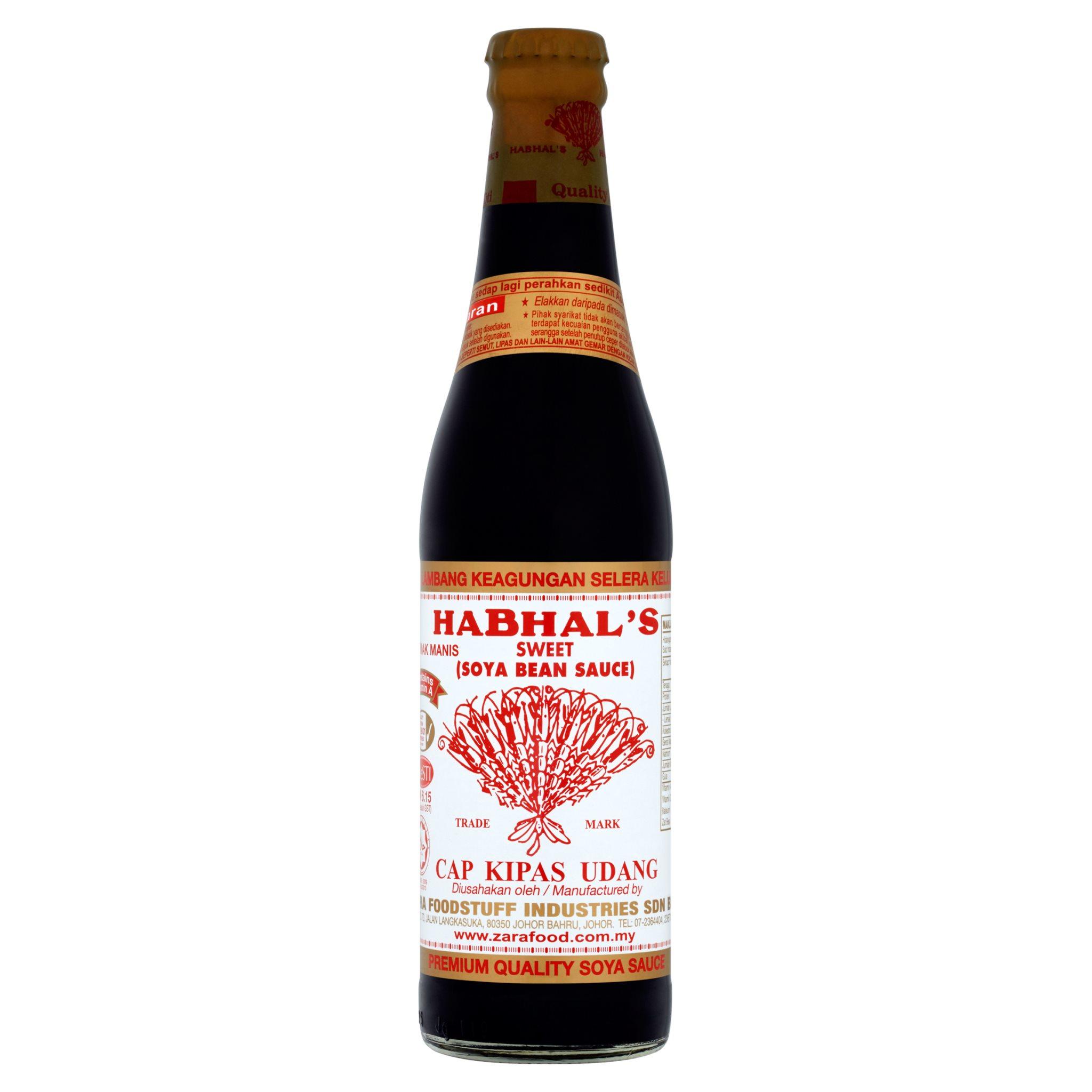 Habhals Cap Kipas Udang Sweet Soya Bean Sauce 345ml