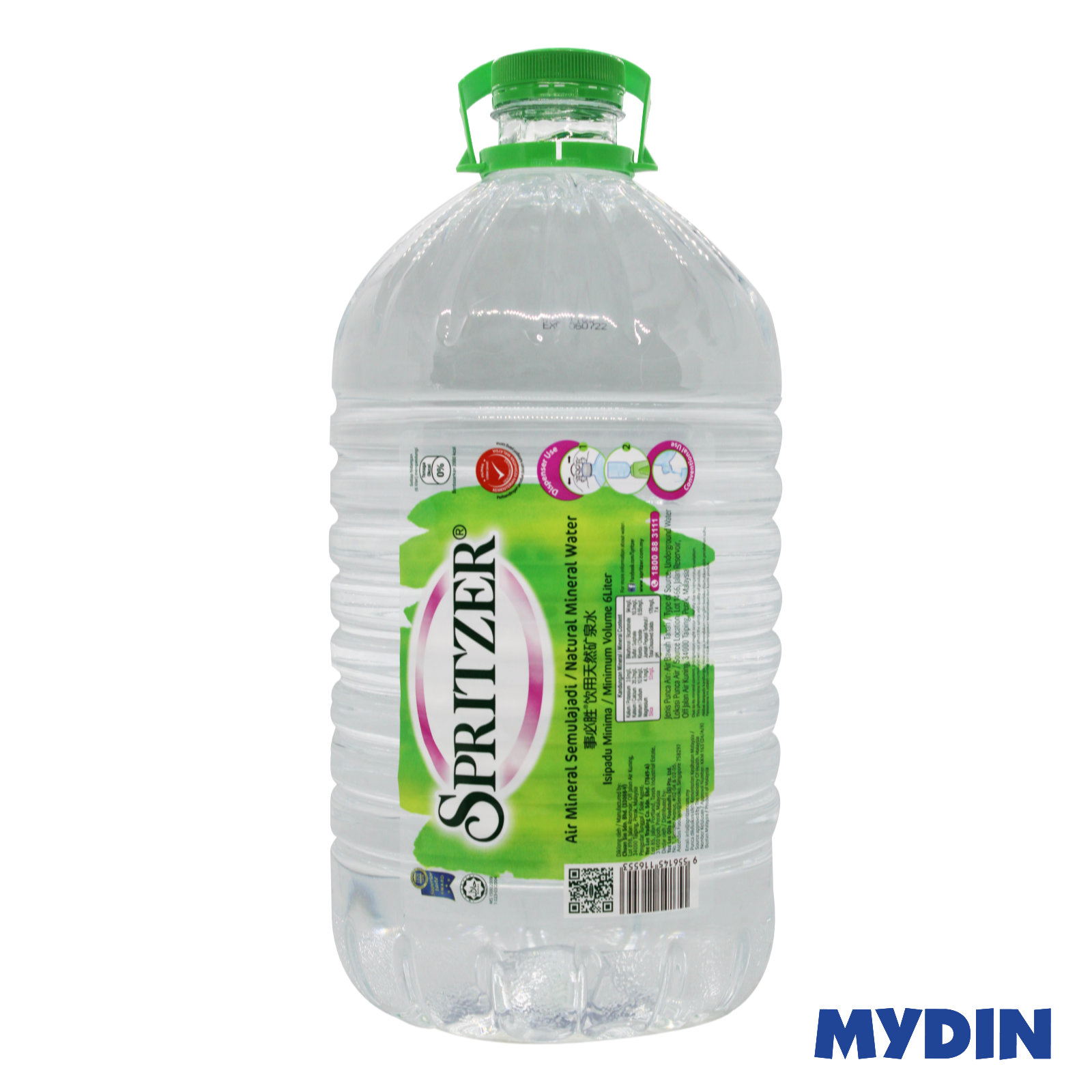 Spritzer Natural Mineral Water (6L)