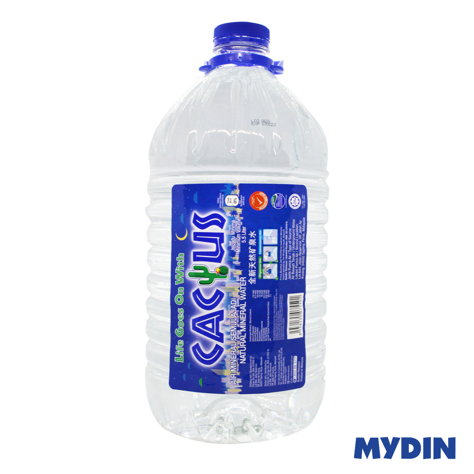 Cactus Natural Mineral Water (5.5L)