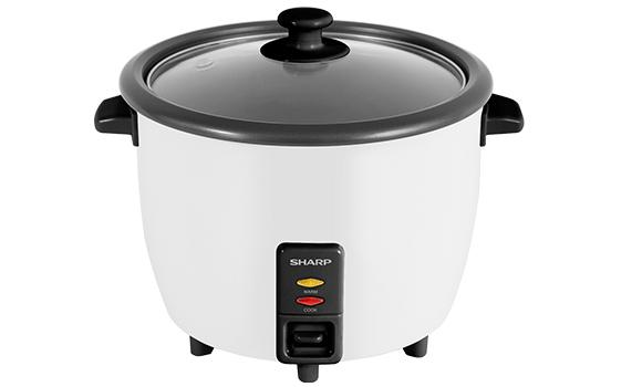 Sharp 1.8L Rice Cooker With Glass Lid KSH188GWH
