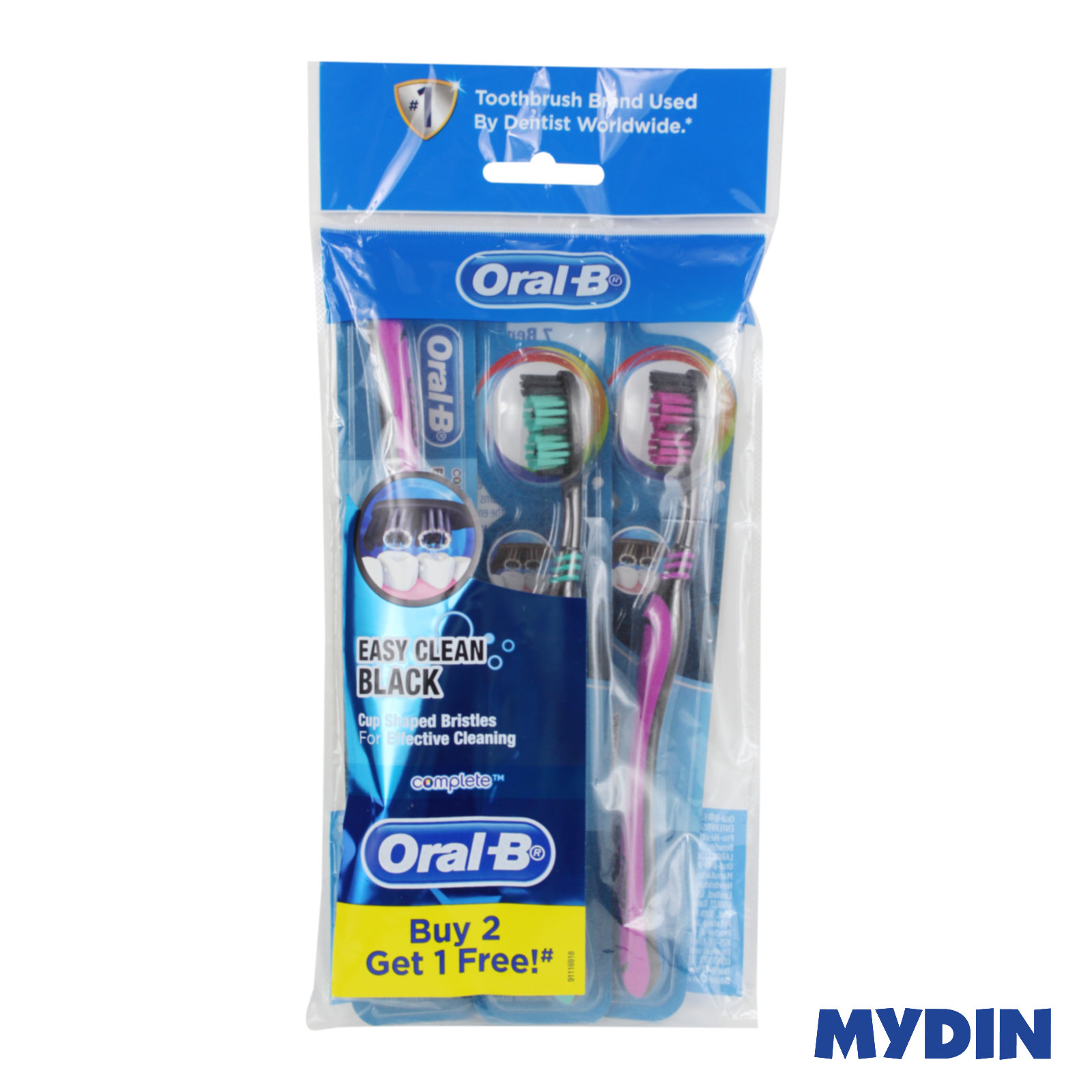 Oral B Toothbrush Easy Clean Black B2F1