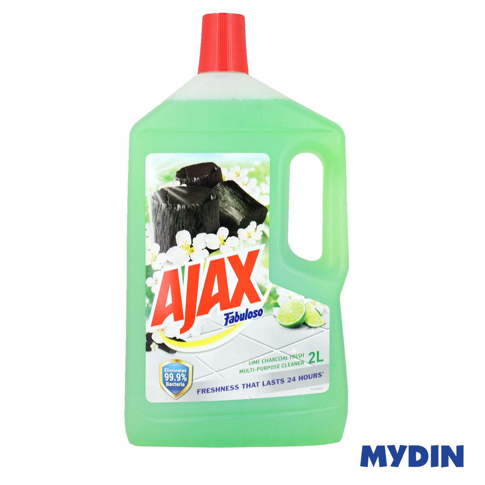 Ajax Fabuloso Lime Charcoal Multi Purpose Floor Cleaner (2L)