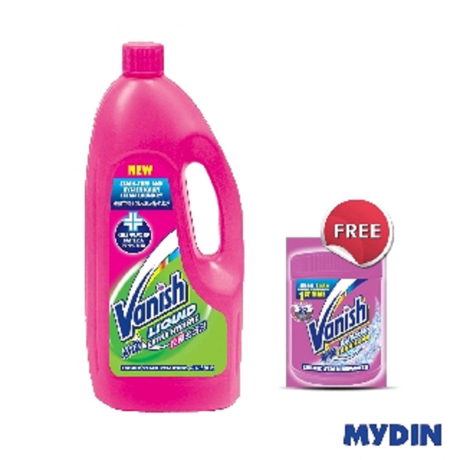 Vanish Extra Hygiene Fabric Stain Remover Liquid 1L (FOC Vanish Powder 30g Sachet - while stocks last)