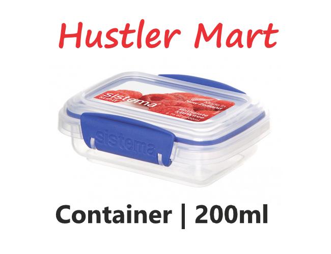 Sistema Klip It Rectangular Container 200ml