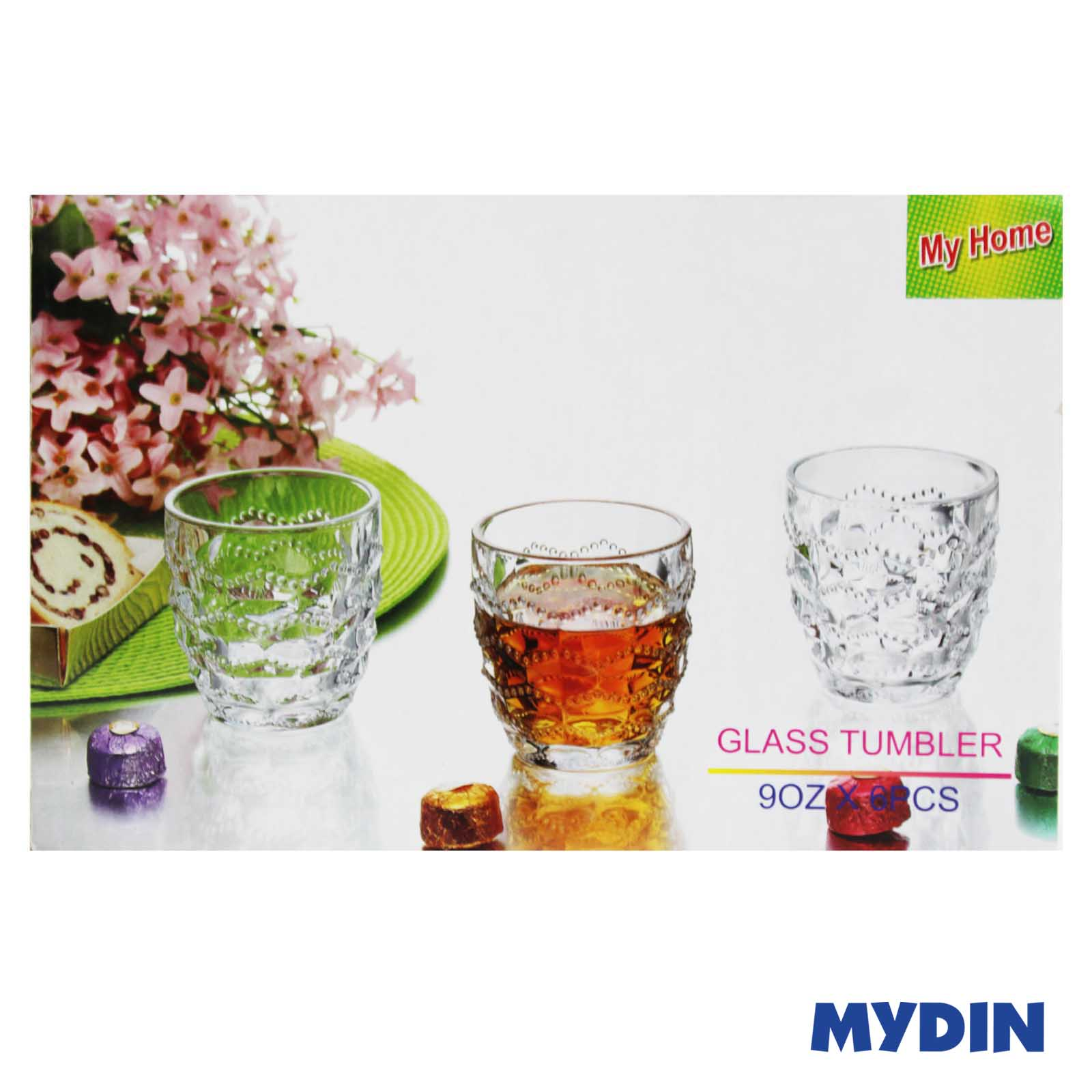 My Home Glass Tumbler Plain (6pcs) WI-GT-6S