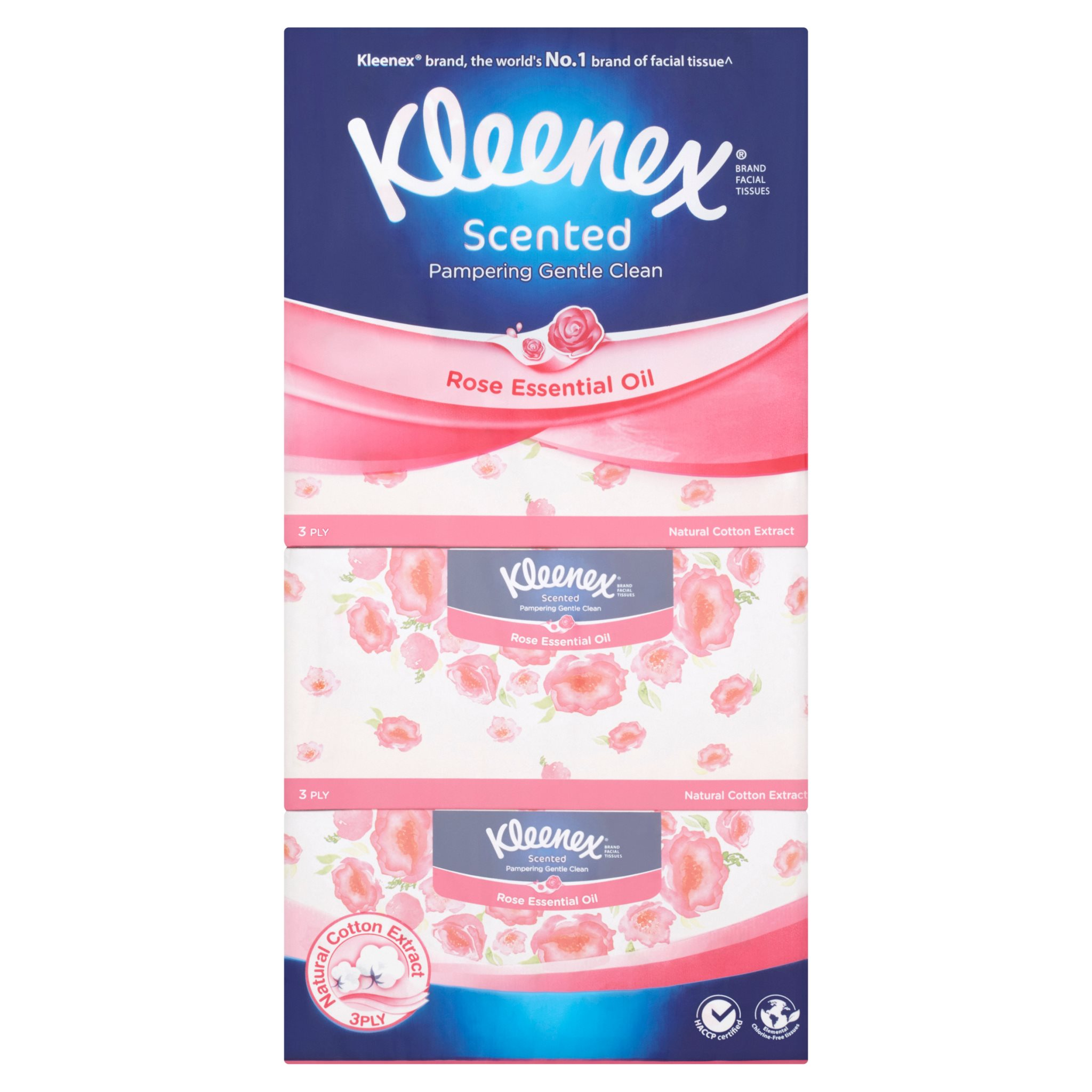Kleenex Scented Rose Essential Oil Facial Tissues  (3ply x 4pcs)