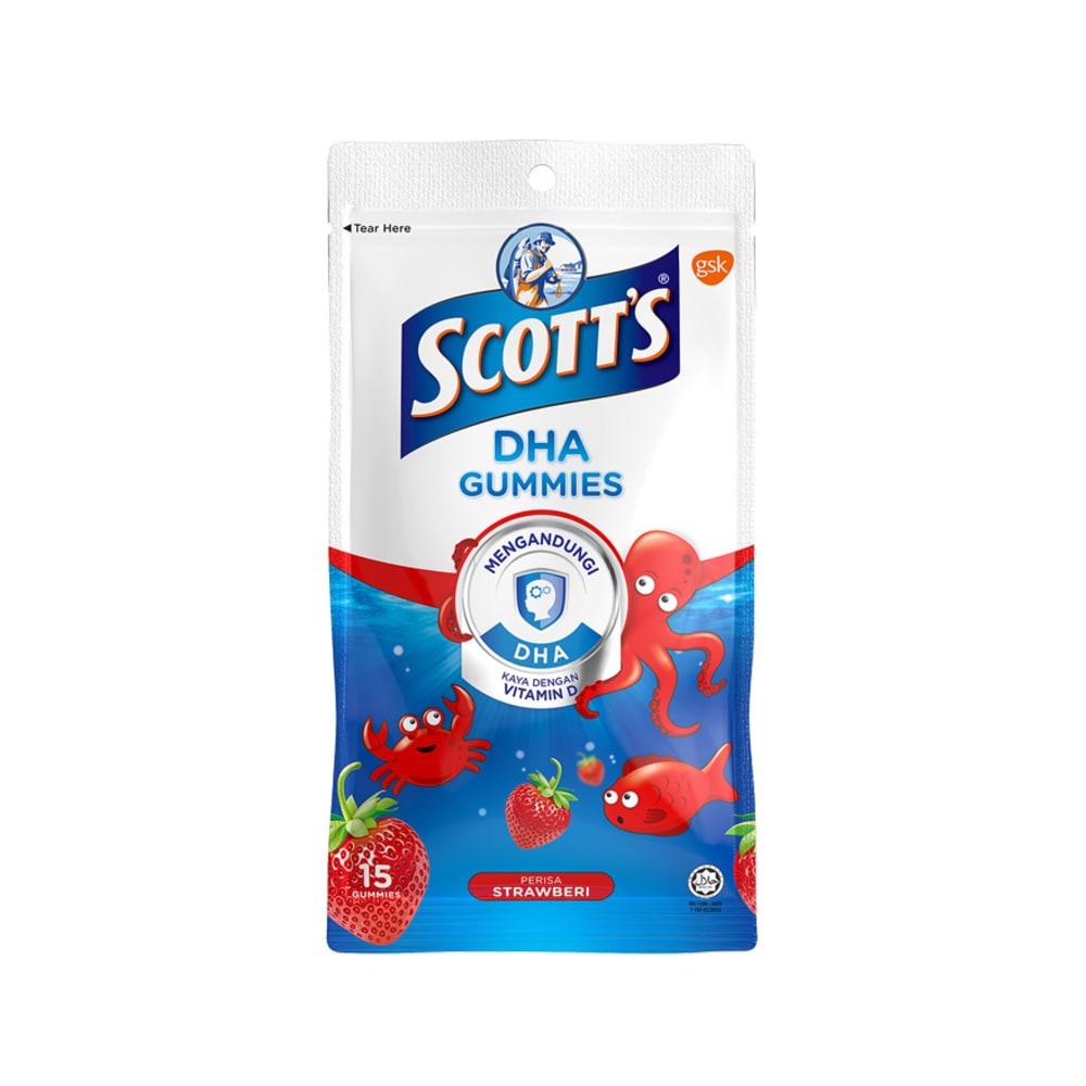 Scotts DHA Gummies Zipper 15s Strawberri Promo Pack