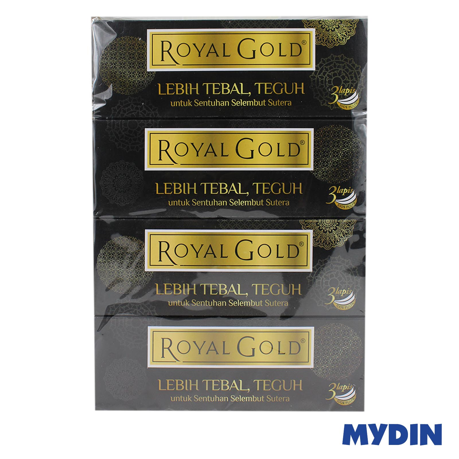 Royal Gold Luxurious Facial Tissue (3ply x 4 box x 80's)