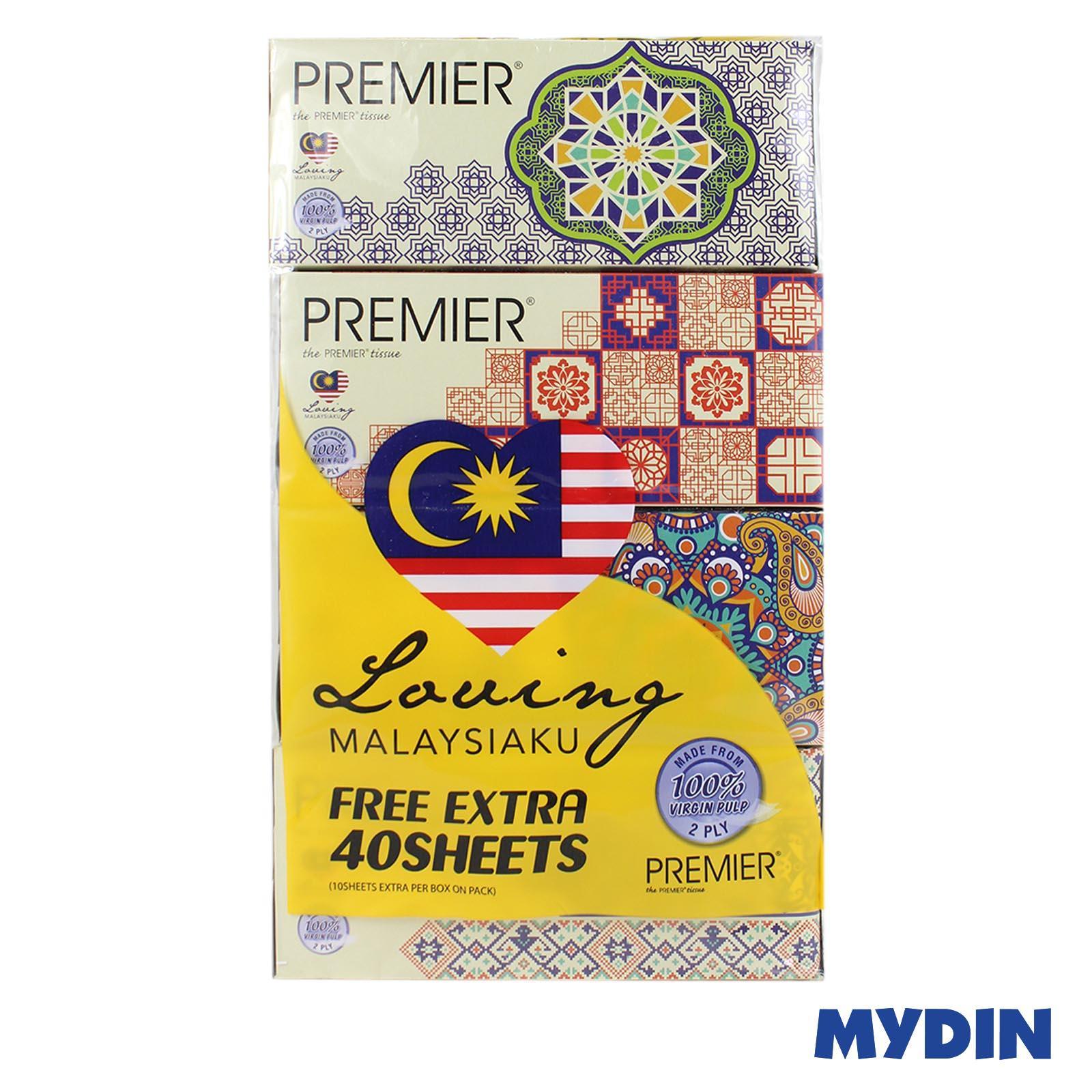 Premier Loving Malaysiaku Facial Tissue (2ply x 170's x 4 box)