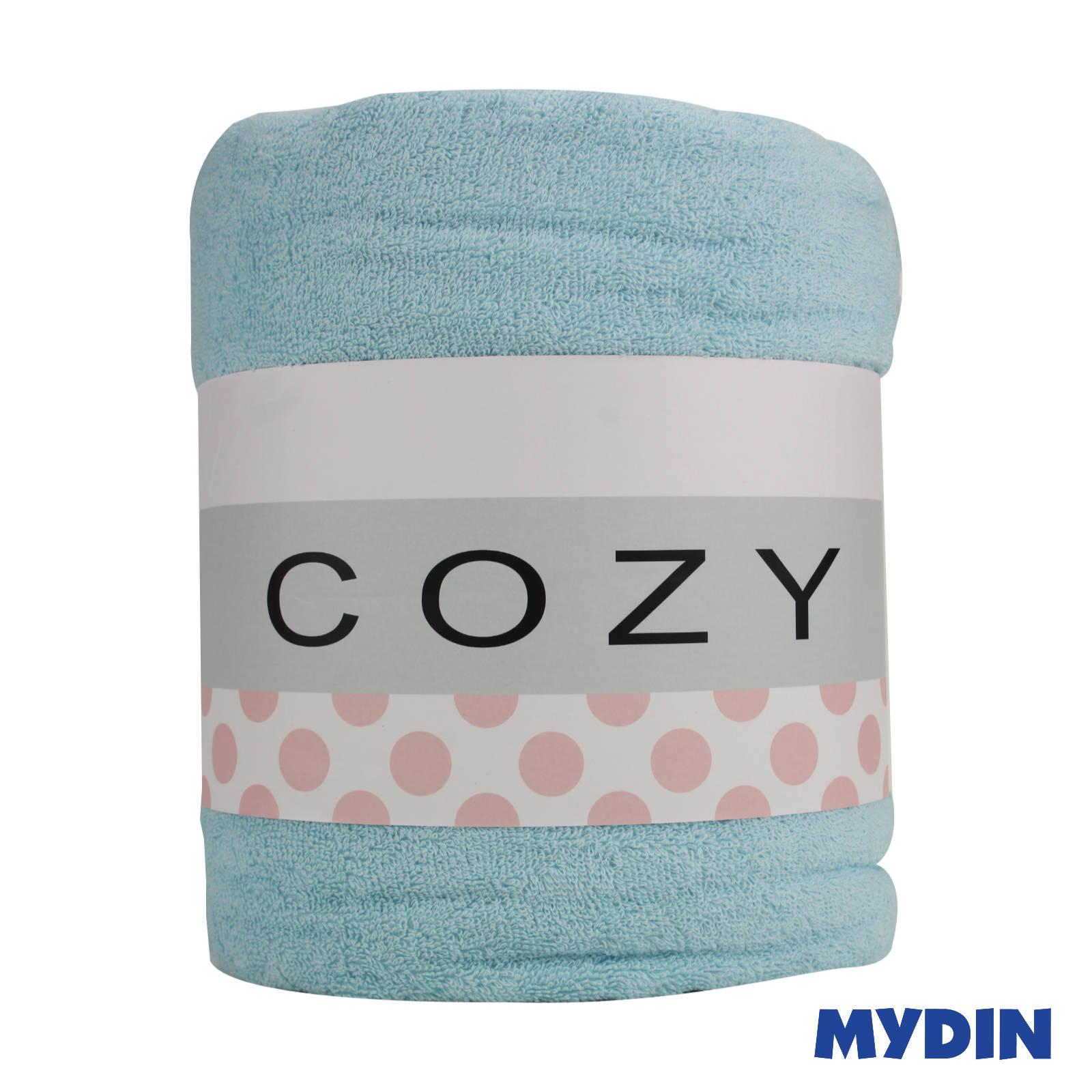 """Cozy Blue Single Fleece Blanket BLRY124 (55"""" x 75"""")"""