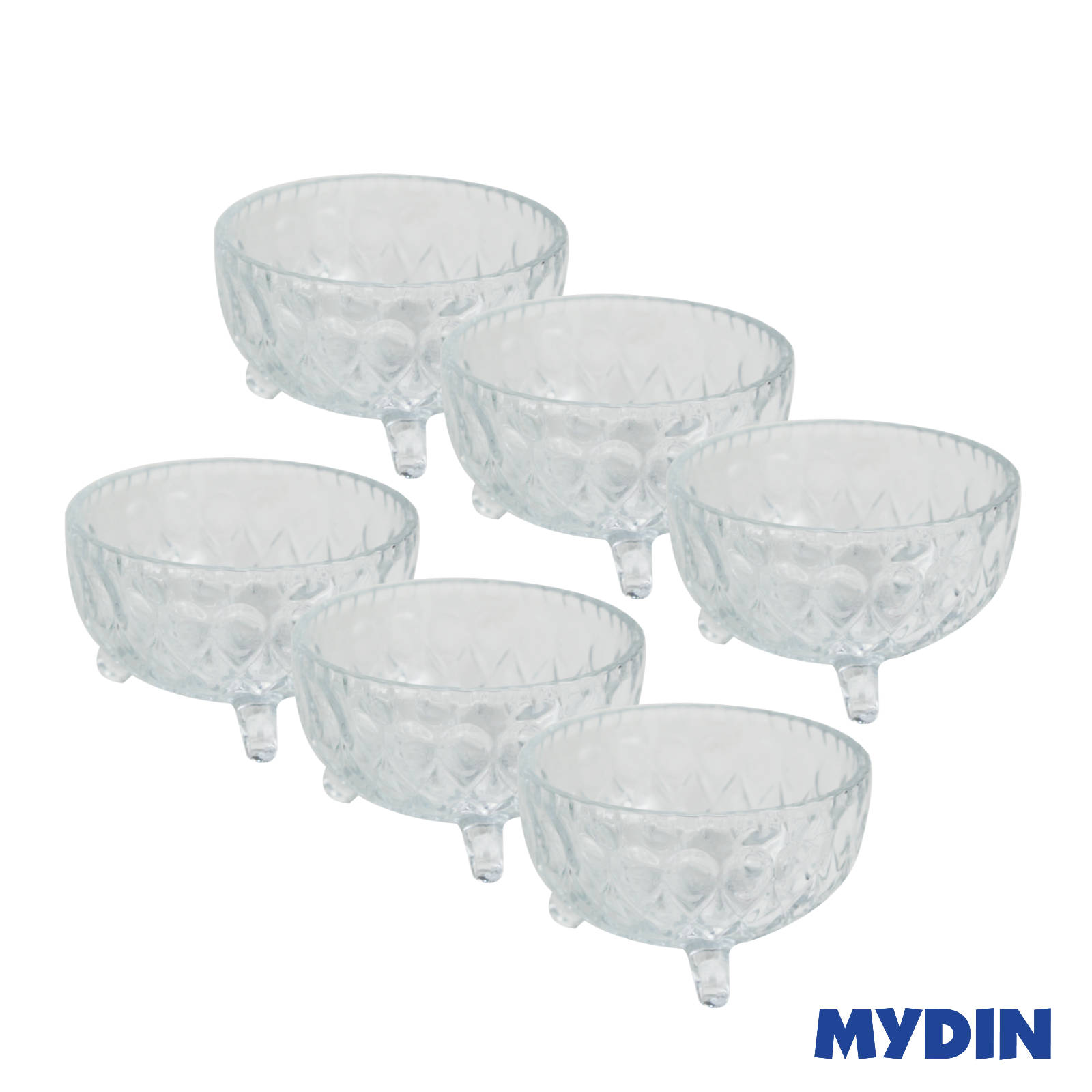 Yu Jing Live Vogue Glass Bowl Set 6pcs RSP-6S