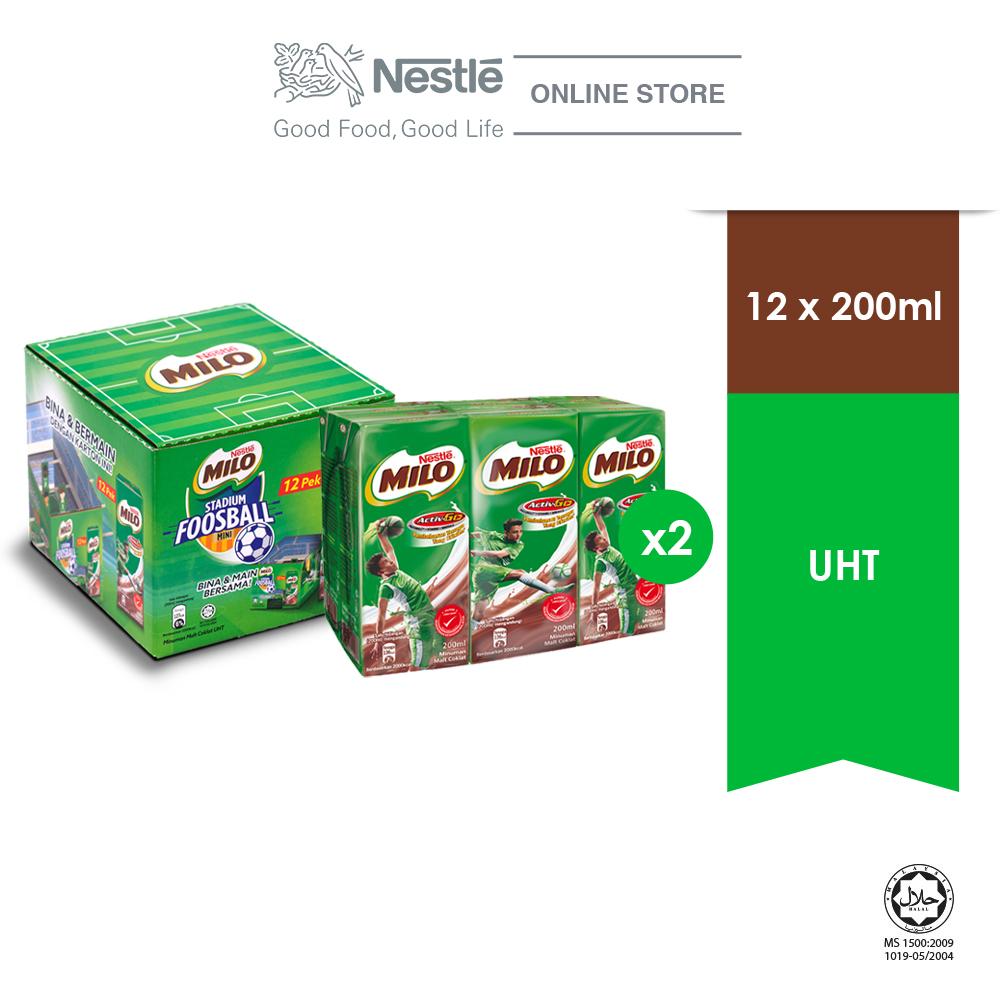 Nestle MILO Activ-go UHT Boxes 12x200ml Craft Box