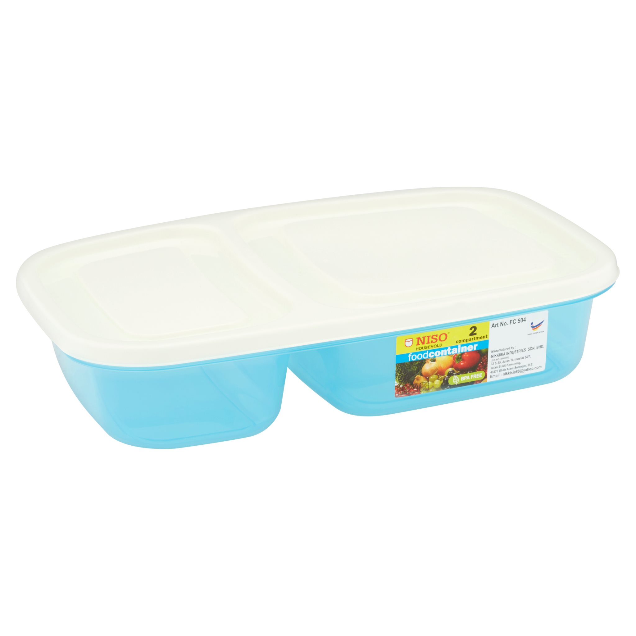 Niso 2 Compartment Food Container 1L FC504-2