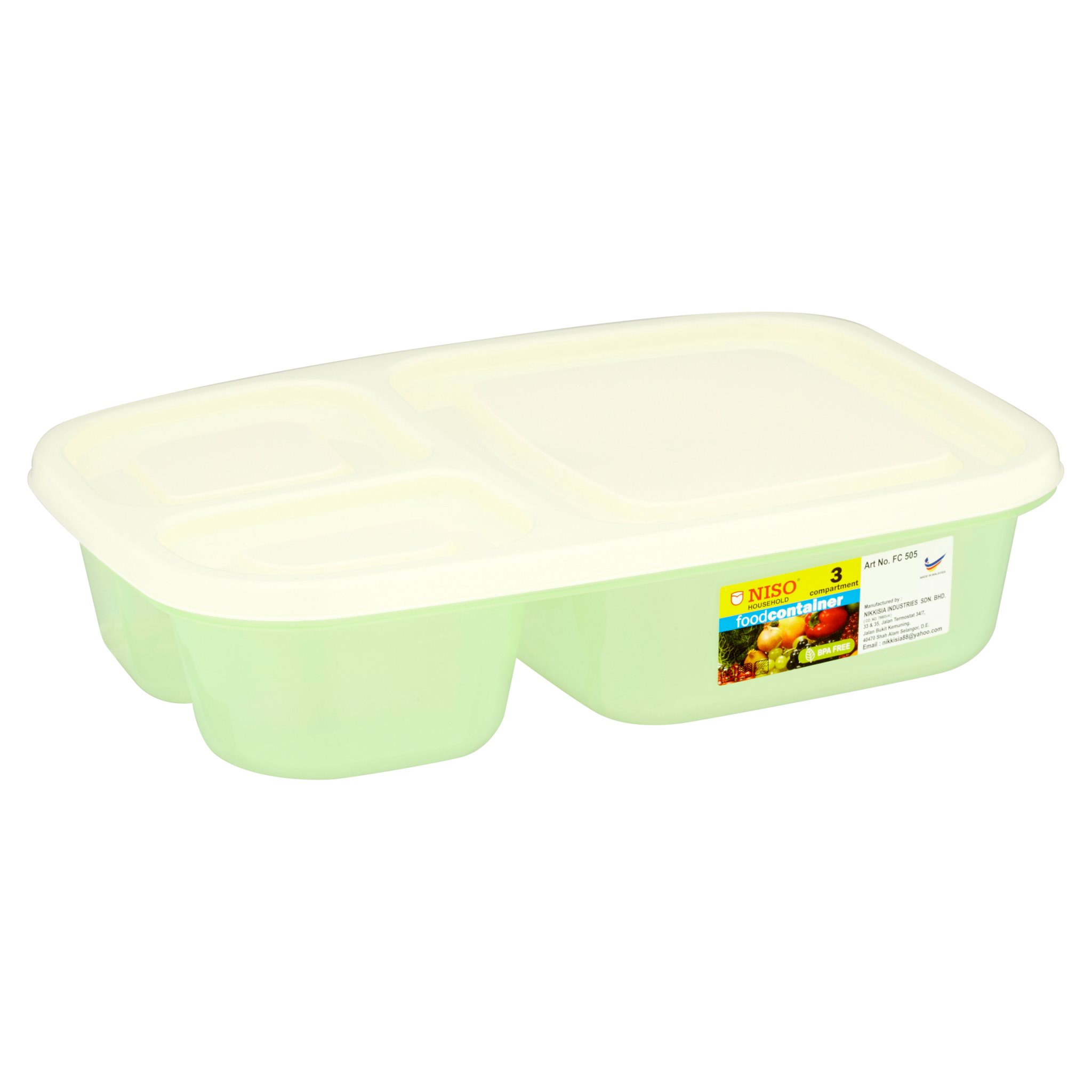 Niso 3 Compartment Food Container 1L FC505-3
