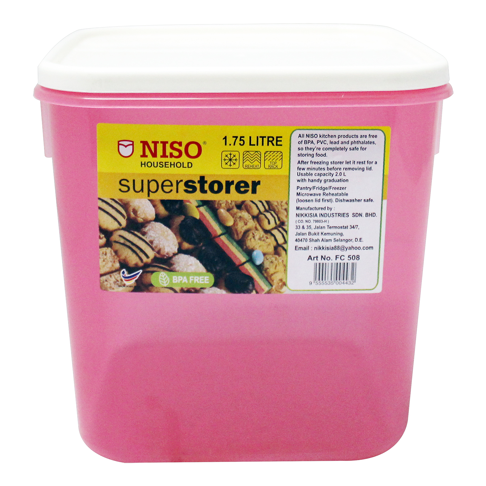 Niso Food Container 1.75L FC508