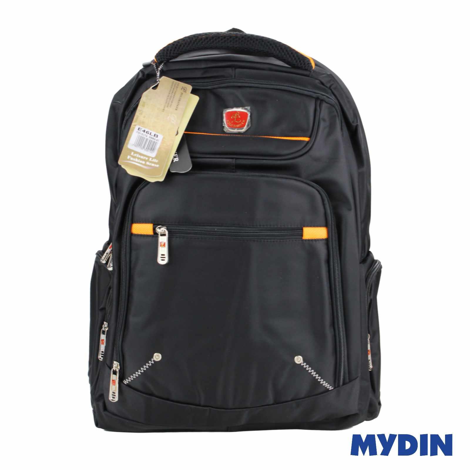 Polo Banker Laptop Haversack Bag 1C E46LB (Black Orange)