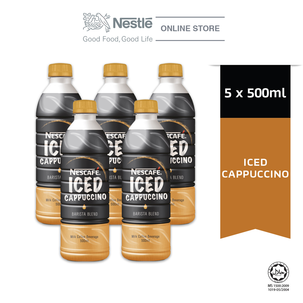 NESCAFE Iced Cappuccino 500ml, Bundle of 5