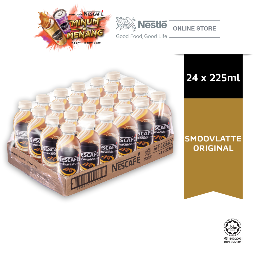 NESCAFE Smoovlatte Original 24 Bottles 225ml Exp Date: 06 DEC'20