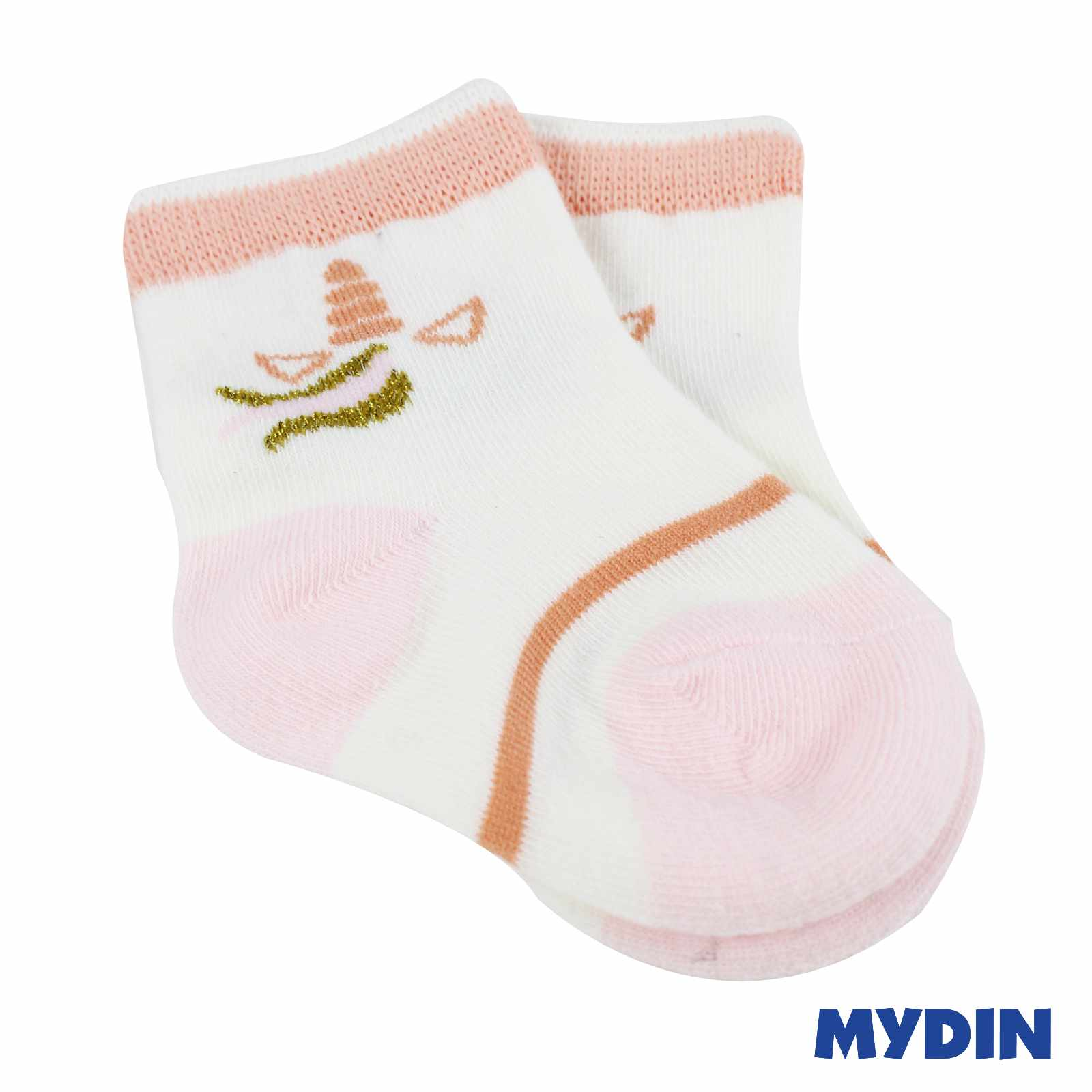 MYBB Pink Baby Socks 3 Pairs (0-1years) 1219WYBNCE05B