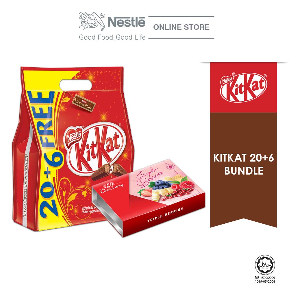 Nestle KITKAT 20+6 Special Bundle 1 (KITKAT 2F 20+6 & Chocolaty Triple Berries) Exp:Nov20