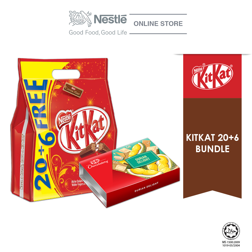 Nestle KITKAT 20+6 Special Bundle 3 (KITKAT 2F 20+6 & Chocolaty Durian Delight) Exp Date: Nov20