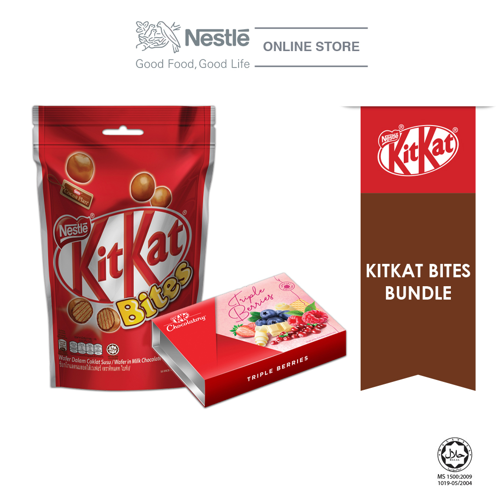 Nestle KITKAT Bites Special Bundle 1 (KITKAT Bites 200g & Chocolaty Triple Berries) Exp Date: Nov20
