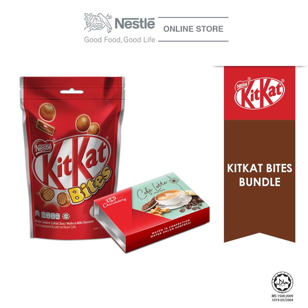 Nestle KITKAT Bites Special Bundle 2 (KITKAT Bites 200g & Chocolaty Cafe Latte) Exp Date: Nov20