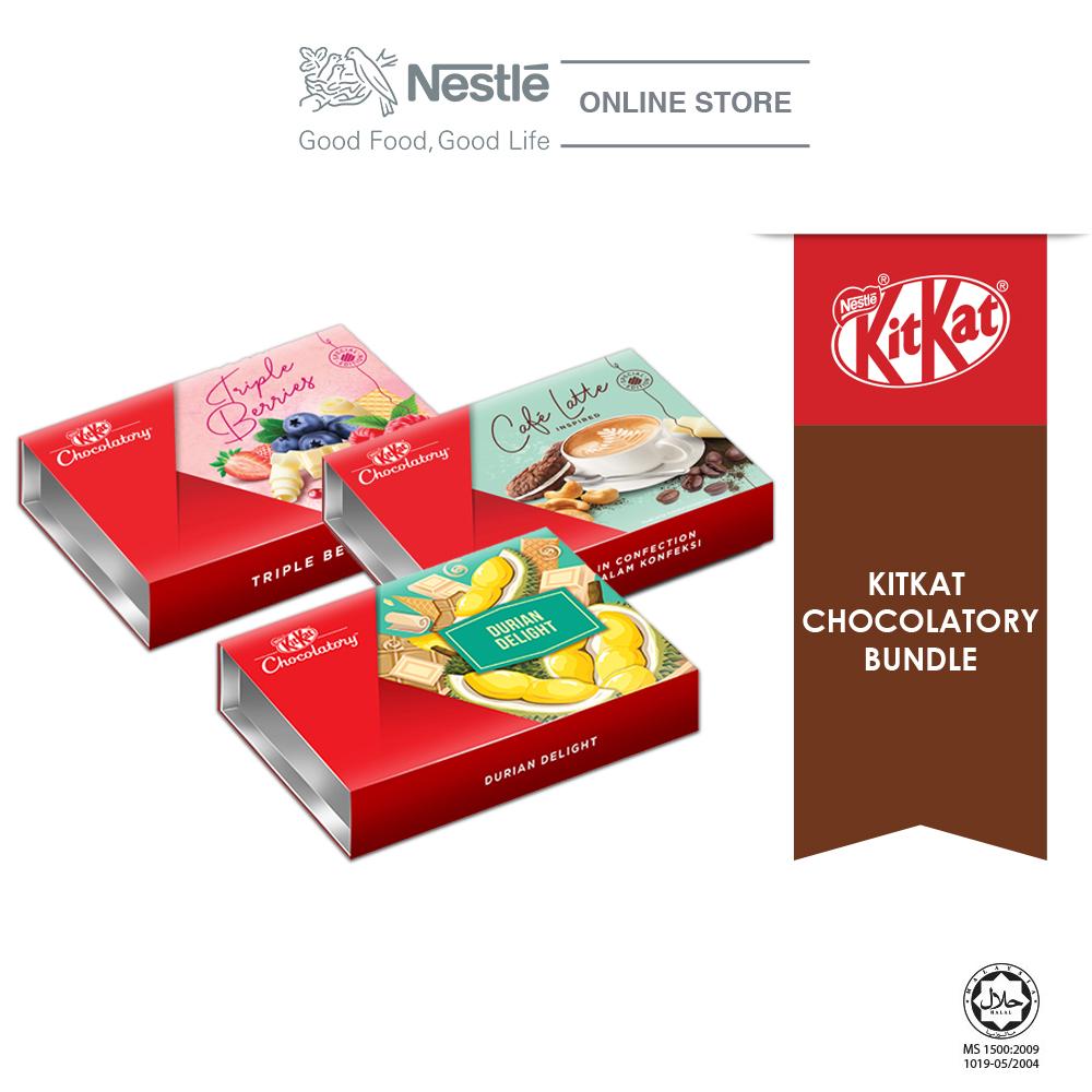 Nestle KITKAT Chocolaty Special Bundle 1 (Triple Berries, Café Latte & Durian Delight) Exp: Nov'20