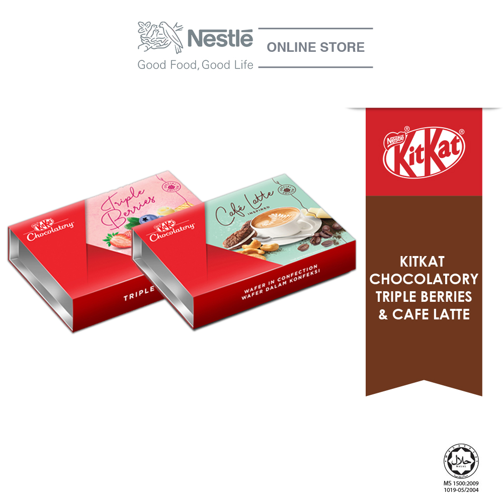 Nestle KITKAT Chocolaty Special Bundle 2 (Triple Berries & Café Latte) Exp: Nov20