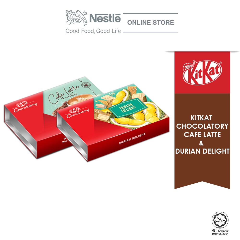 Nestle KITKAT Chocolaty Special Bundle 4 (Café Latte & Durian Delight) Exp: Nov'20