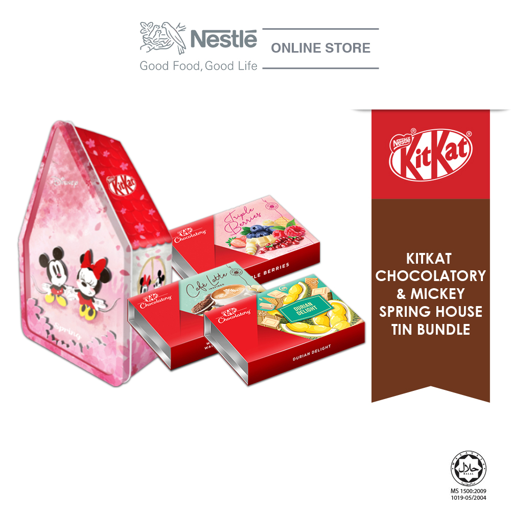 Nestle KITKAT Chocolaty Mickey Spring Bundle (Triple Berries,Café Latte & Durian Delight)Exp: Nov20
