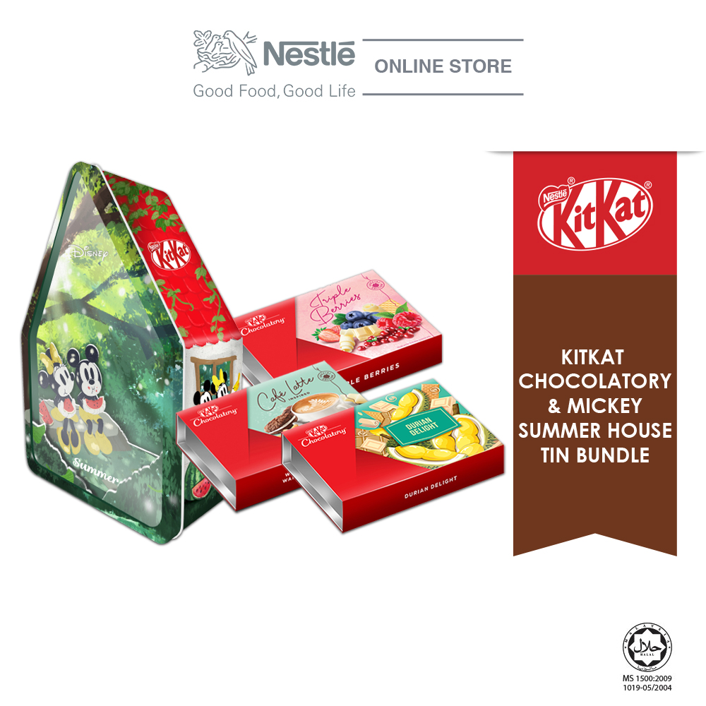 Nestle KITKAT Chocolaty Mickey Summer Bundle(Triple Berries,Café Latte & Durian Delight)Exp: Nov20