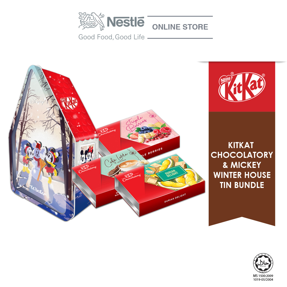 Nestle KITKAT Chocolaty Mickey Winter Bundle(Triple Berries,Café Latte & Durian Delight)Exp: Nov20